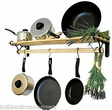Ironmongery World® Traditionelle Country Kitchen Regal Topf Rack Halterung Aufhängen...