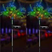 iRonrain Solar-Gartenbaum-Lichter, leuchtet