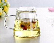 irse Glas Tee-Ei Cup mit Glas Teesieb und