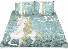 ISAOA Magic Unicorn Kids Crystal Velvet Bezug
