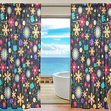 ISAOA Vorhang aus Tüll, transparent, für