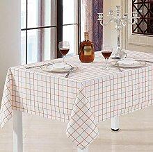 ischwäsche Square Tischdecke / Pastoral Heimtextilien / Leinen Baumwolle Tischdecke tischdecken ( größe : 135*200cm )