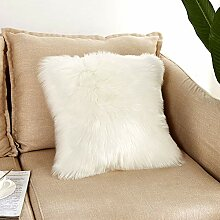 iShine Kissenbezug 45cmx45cm Fellkissen für Sofa