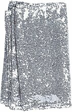 iShine Schimmernder Paillettenstoff Tischdecke für Hochzeit Party sequin tablecloth