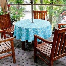 ishine Tischdecke Rund Tablecloth Waterproof mit