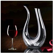 ISHOW 1000ml U Form Wein Dekantierer Kristall Wein