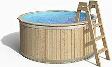 ISIDOR Holzpool, Swimmingpool Carl mit Poolfolie