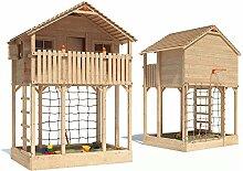 ISIDOR Monturio Spielturm Kletterturm Baumhaus Rutsche Schaukeln (ohne Schaukelanbau)