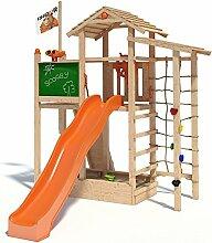 ISIDOR Scooby Spielturm Kletterturm Baumhaus Rutsche Schaukeln (ohne Schaukelanbau, Orange)