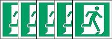 ISO Sicherheitsaufkleber Schild - Notausgang