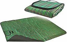 Iso Trade Picknickdecke Campingdecke Picknick Decke Reisedecke Matte Farbauswahl Neu #2450, Farbe:Grün