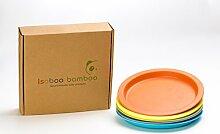 Isoboo Bambus Kinder-Teller-Set aus Bambus,