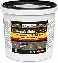Isolbau 10kg Balkonabdichtung Dichtschlämme 2-K