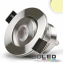 ISOLED LED-Deckeneinbaustrahler 3W 45° rund