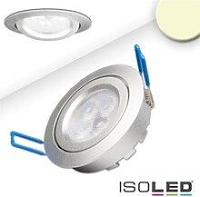 ISOLED LED Einbaustrahler prismatisch, IP40, Ø