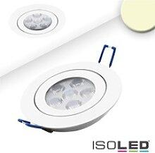 ISOLED LED Einbaustrahler prismatisch, ultraflach,
