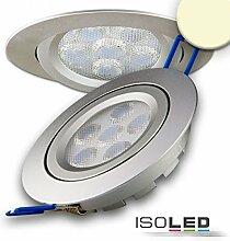 ISOLED LED Einbaustrahler, silber, 15W, 72°,
