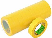 Isolierband 10 Rollen Länge:10m Breite:15mm gelb Isoband Elektroinstallation erfüllt VDE, ÖVE und SEV