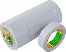 Isolierband 10 Rollen Länge:10m Breite:15mm grau Isoband Elektroinstallation erfüllt VDE, ÖVE und SEV