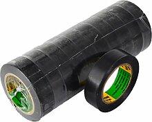 Isolierband 10 Rollen Länge:10m Breite:15mm schwarz Isoband Elektroinstallation erfüllt VDE, ÖVE und SEV