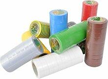 Isolierband 100 Rollen Länge:10m Breite:15mm verschiedene Farben Isoband Elektroinstallation erfüllt VDE, ÖVE und SEV