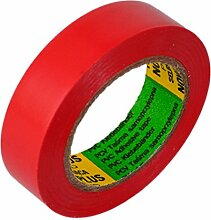 Isolierband 5 Rollen Länge:10m Breite:15mm rot