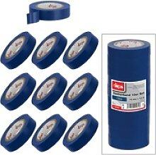 Isolierband Klebeband 10er Set Blau 15 mm x 10 m