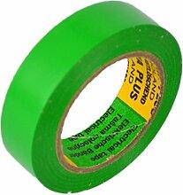 Isolierband Länge:10m Breite:15mm grün Isoband