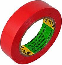 Isolierband Länge:10m Breite:15mm rot Isoband Elektroinstallation erfüllt VDE, ÖVE und SEV