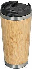 Isolierbecher Bambus, Thermobecher Bambus, Kaffee-
