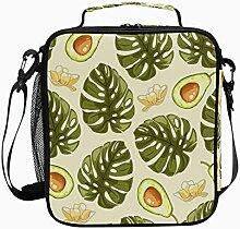 Isolierte Lunchtasche Tropische Pflanze Avocado