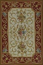 IT-0293-9-Aubusson Tapis Teppich classico floreale
