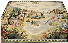 IT-3491-Aubusson Tapet Alfombras Teppich Rugs