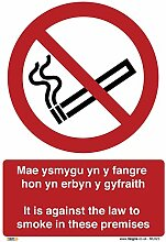 It is against the law to smoke in these premises.