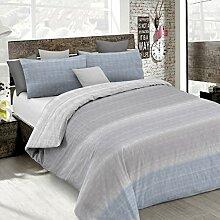 Italian Bed Linen cp-em-barree grigio-2p Bettbezug