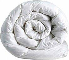Italian Bed Linen ndash; Daunen-Zudecke, ideal im Winter 250 x 200 cm Bianco