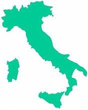 Italien Aufkleber in 8 Größen und 25 Farben (32x40cm türkis)