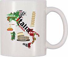 Italien Italien Kaffee-Haferl (11 Unzen)