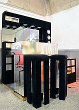Italienische Bar mit Radio, Kühlschrank & Zwei