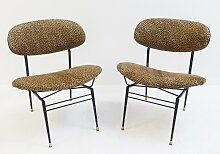 Italienische Cocktail Chairs, 1950er, 2er Set