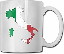 Italienische Flagge Karte Mode Kaffeetasse