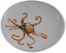 italienische Keramik Bassano Flache Bemalung