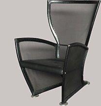 Italienischer Vintage Leder Lounge Stuhl, 1970er