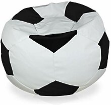 Italpouf Schwarz Fußball Sitzsack Plüsch XL