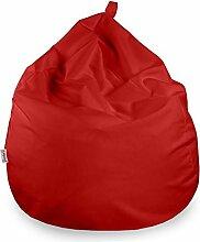 Italpouf Sitzsack Riesensitzsack L für Kinder Rot