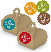 itenga 10 Geschenkboxen mit Griff Kraftkarton