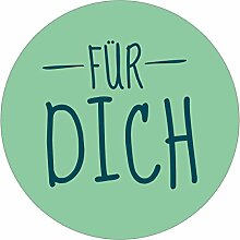 itenga 24x Sticker Für Dich (Motiv 9) 4cm