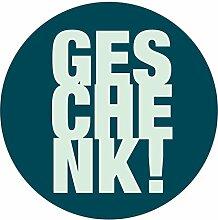itenga 24x Sticker Geschenk (Motiv 3) 4cm Geschenk