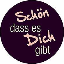 itenga 24x Sticker Schön DASS es Dich gibt (Motiv