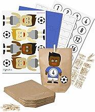 itenga DIY Fußball-Adventskalender Set zum